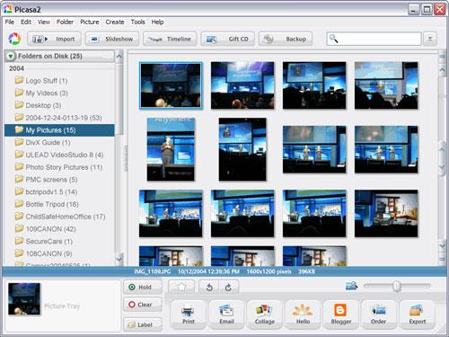 Picasa screen shot
